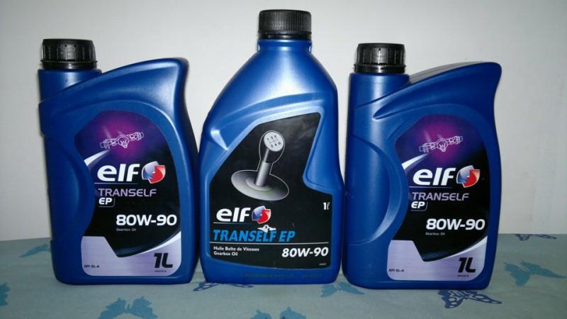 Фото трансмиссионной жидкости Elf Tranself EP 80W-90