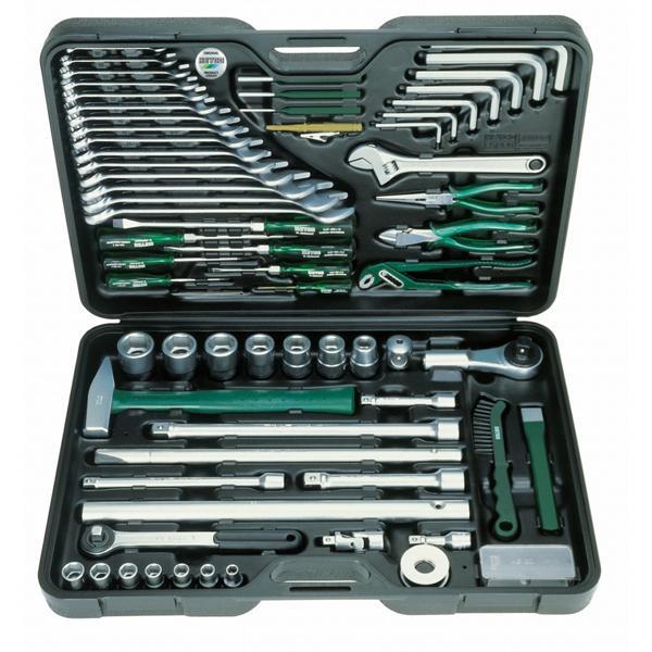 Фото набора автомобильных инструментов в чемоданчике