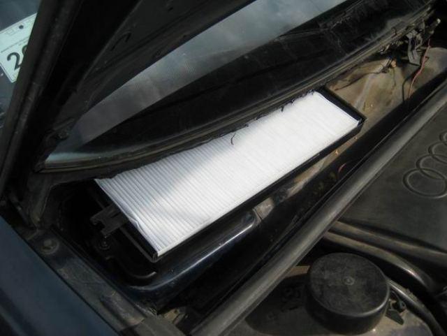 Расположения в Audi фильтра