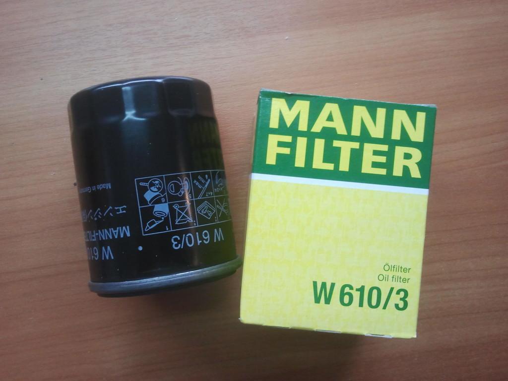 Масляный фильтр Mann W610/3