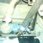 Радиатор и два шланга: подающий и сливной