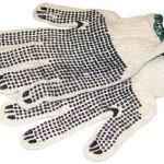Рабочие перчатки на белом фоне
