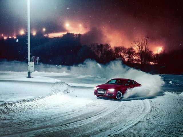 Занос автомобиля на снегу