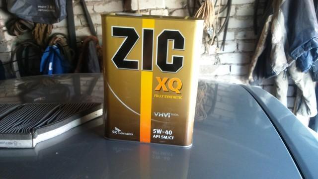 О масле Zic XQ 5W-40