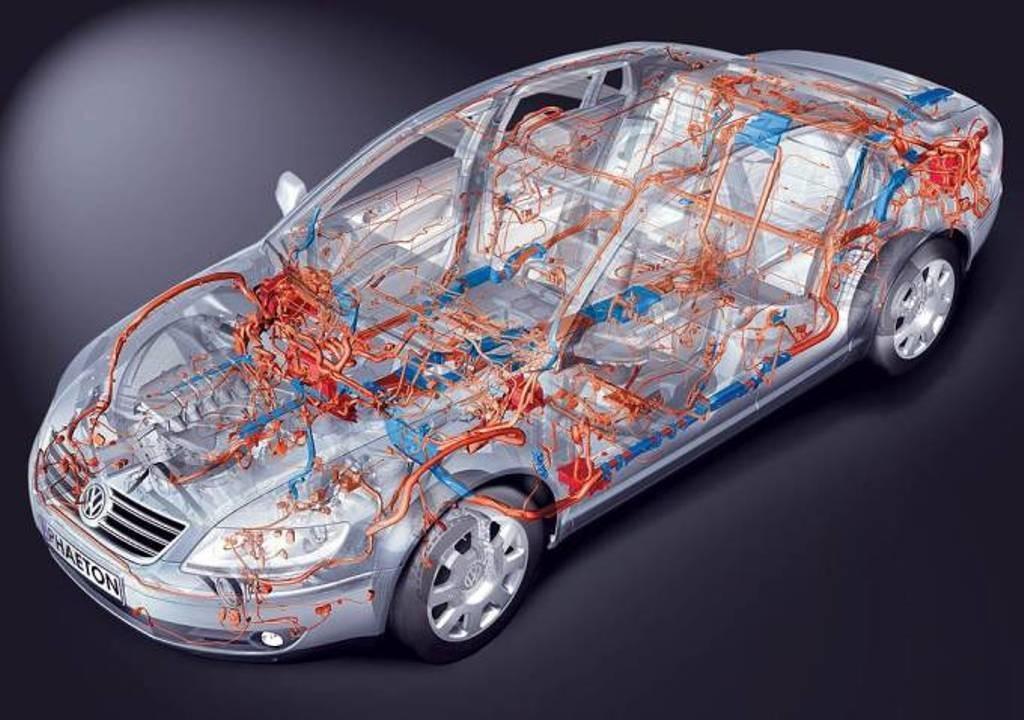 Схема электроники на примере Volkswagen