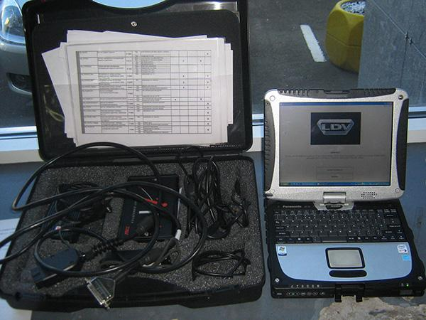 Ноутбук для проведения диагностики транспорта
