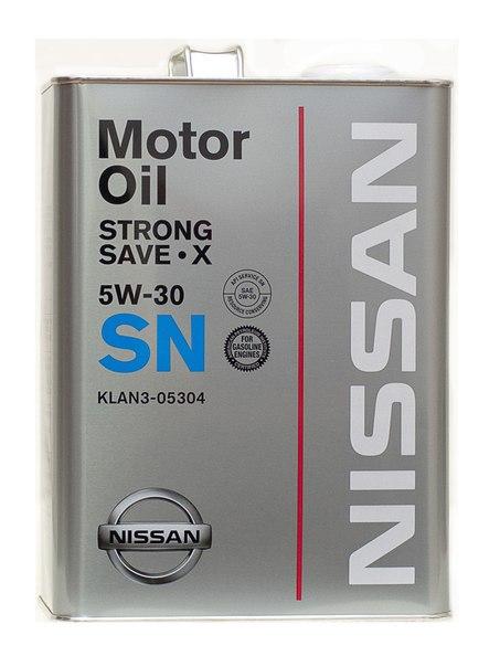 Моторное смазка Nissan 5W30 SN