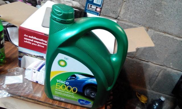 Моторная жидкость Visco 5000 в четырехлитровой канистре