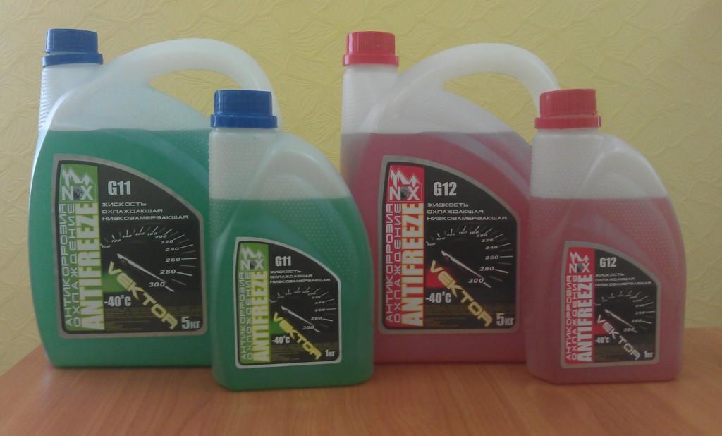 Охлаждающие жидкости «Antifreeze» стандартов G-11 и G-12