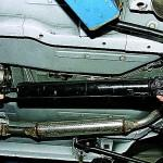 2. Затем демонтируйте задний карданный вал