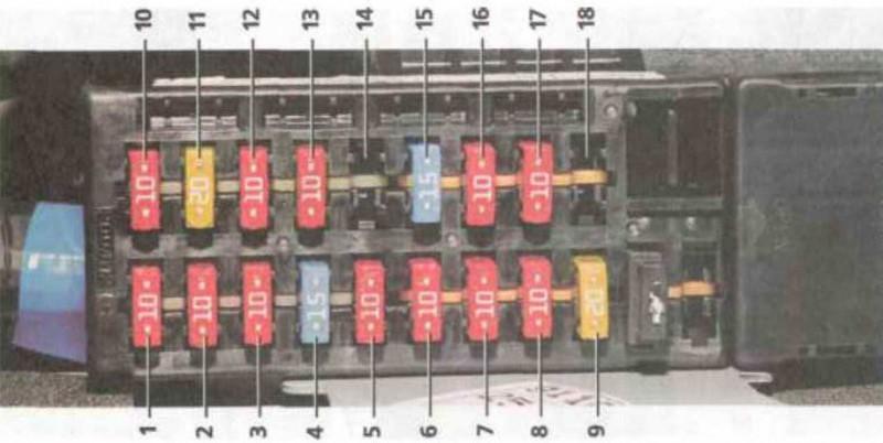 Схема БП, расположенного в салоне Хендай Акцент