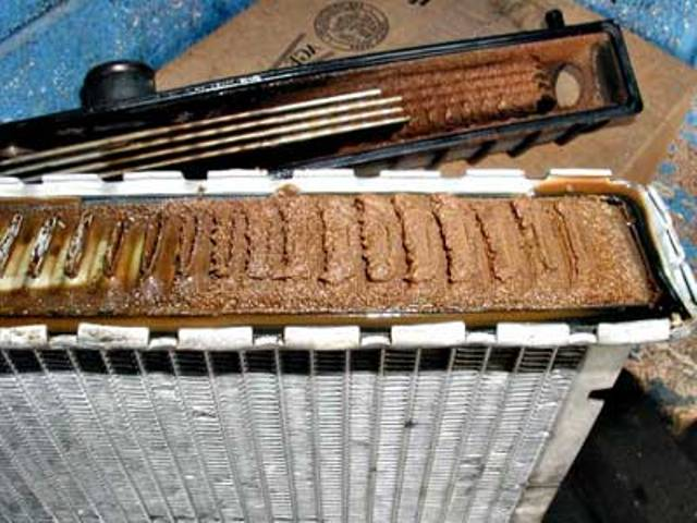 Накипь в системе охлаждения