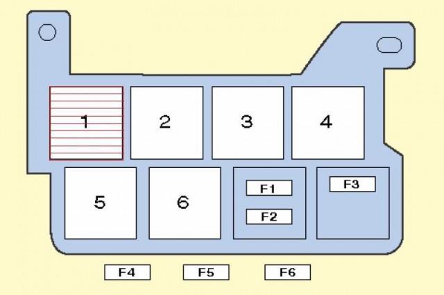 Схема устройства с реле, находящегося за БП на приборной панели