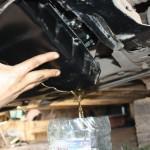 Снимите картер агрегата с остатками вещества