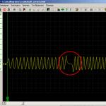 Так выглядят показатели сигнала ДПКВ при проверке осциллографом