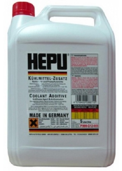 Антифриз Hepu Coolant ADDITIVES G12, 5л