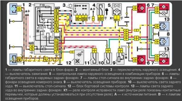Электросхема для ВАЗ 2110