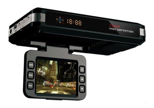 Многофункциональное устройство с видеорегистратором, антирадаром и GPS-трекером