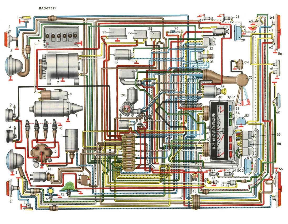 Схема электрики транспортного средства