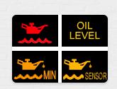 Индикаторы и значки на панели приборов