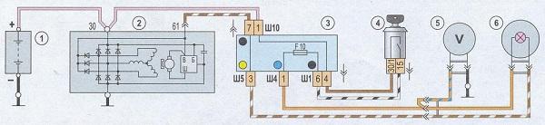 Схема электросоединений генератора