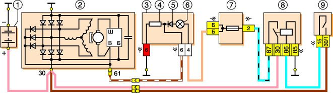 sxema elektroprovodki niva vaz 21213 - Электрическая схема ваз 2131 нива инжектор