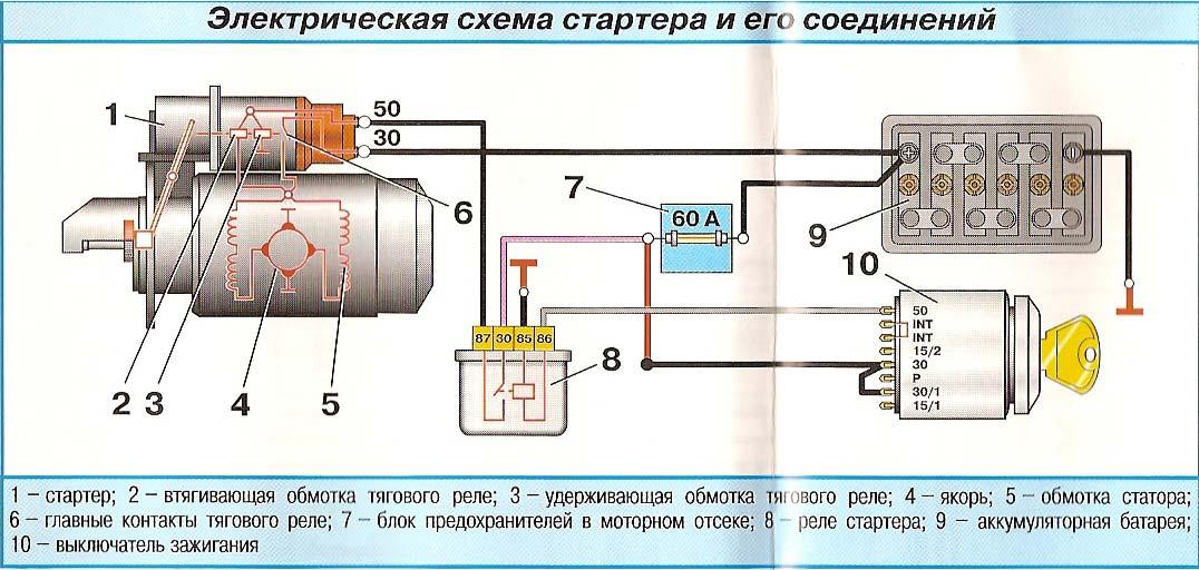 Электросхема соединения узла