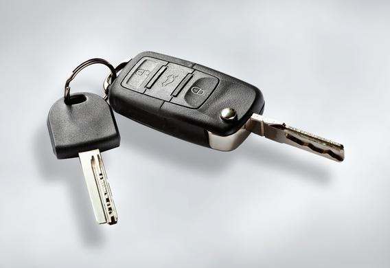 Ключ с брелоком от противоугонной системы авто