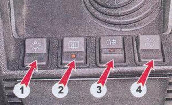 Клавиши приборки ВАЗ 2107