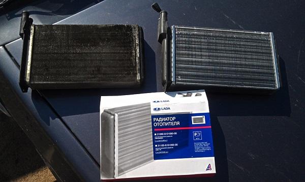 Новый и старый радиаторы