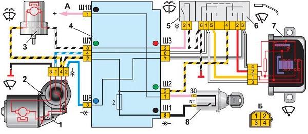 Электрическая схема очистителя