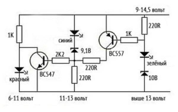 Простейшая схема контроллера