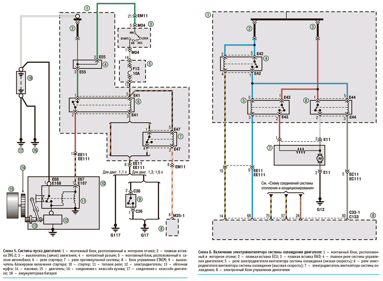 Электрическая схема запуска мотора