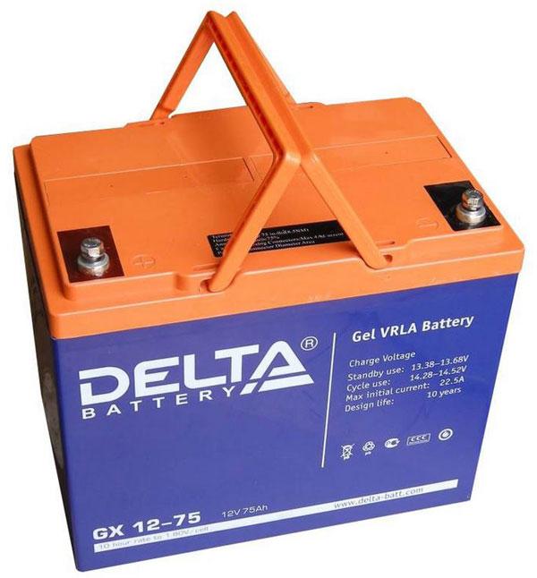 Гелевая батарея фирмы Delta