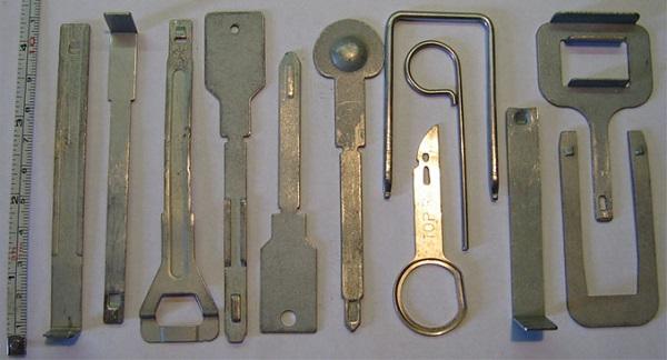 Ключи для снятия