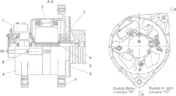 Схема генератора КАМАЗа
