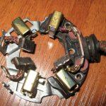Износившиеся щетки механизма