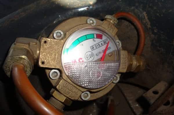 Датчик измерения остатка газа в баллоне