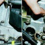 Снятие регулятора на двигателе 16 клапанов