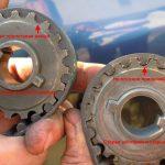 1. Novaya i iznosivshayasya shesternya 150x150 - Треск при работе двигателя