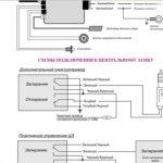 Схема подключения центрального замка
