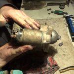 Демонтированный пусковой агрегат