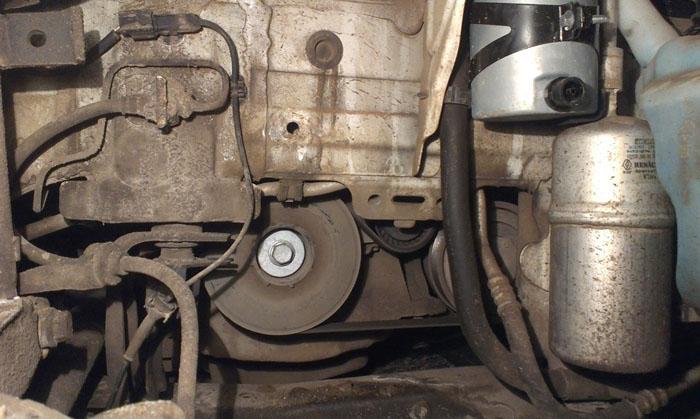 Вид после снятия колеса и подкрылок
