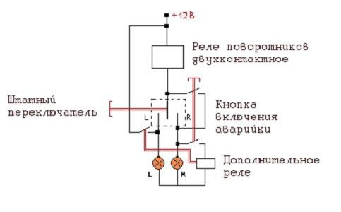 Простая схема аварийной сигнализации