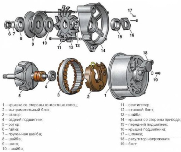 generator chto2 - Схема подключения регулятора напряжения к генератору