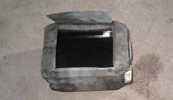 Фото канистры со срезанной боковой поверхностью