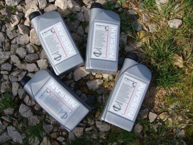Фото масла Nissan Matic Fluid D в бутылке