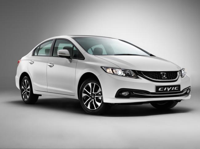 Фото белой Honda Civic 4D