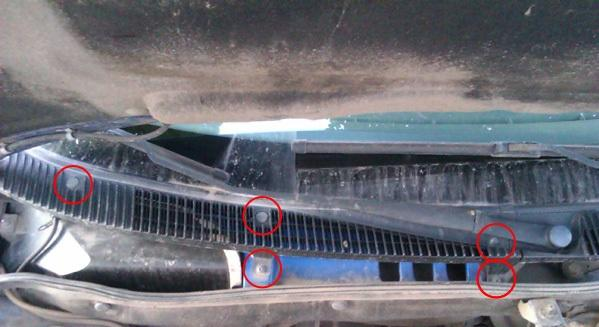 Фото болтов закрепляющих решетку