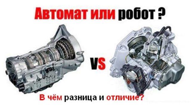 Сравнение автоматической КПП и робота